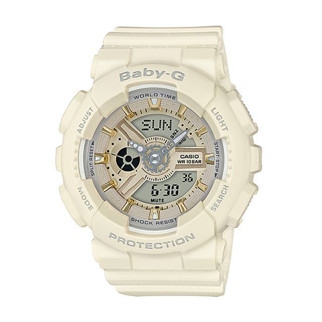 Baby-G ベビージー ベビーG レディース 腕時計 CASIO カシオ BA-110GA-7A2JF [ベージュ/マット/国内正規販売店/Authorized Dealer]