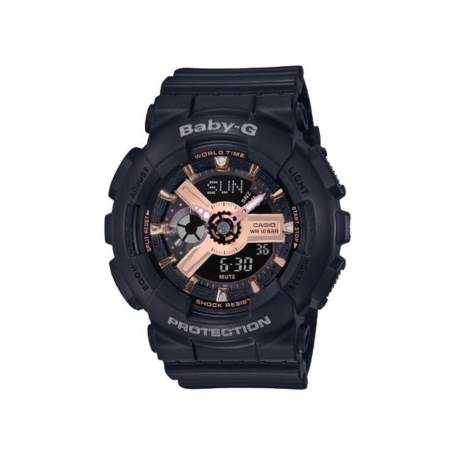 Baby-G ベビージー CASIO カシオ レディース 腕時計 BA-110 BA-110RG-1AJF [BABY-G/ベビージー/防水/腕時計]
