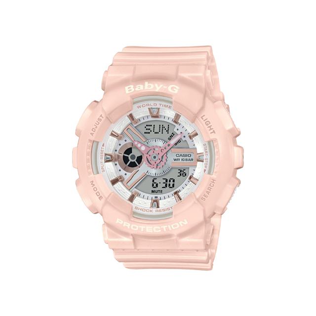 Baby-G ベビージー CASIO カシオ レディース 腕時計 BA-110 BA-110RG-4AJF [BABY-G/ベビージー/防水/腕時計]