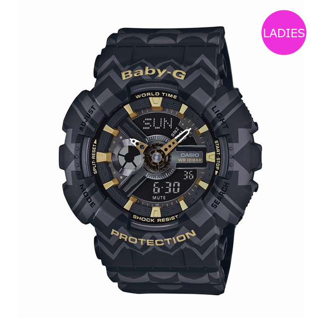 Baby-G ベビージー ベビーG CASIO カシオ レディース 腕時計 BA-110TP-1AJF [ブラック/ボヘミアン/ヒッピー/レトロ/国内正規販売店/Authorized Dealer]