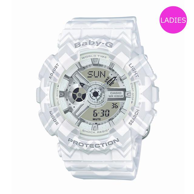 Baby-G ベビージー ベビーG CASIO カシオ レディース 腕時計 BA-110TP-7AJF [ホワイト/ボヘミアン/ヒッピー/レトロ/国内正規販売店/Authorized Dealer]