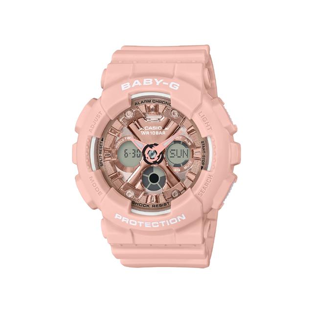 Baby-G ベビージー CASIO カシオ レディース 腕時計 Metalic face BA-130-4AJF [BABY-G/ベビージー/腕時計/防水]