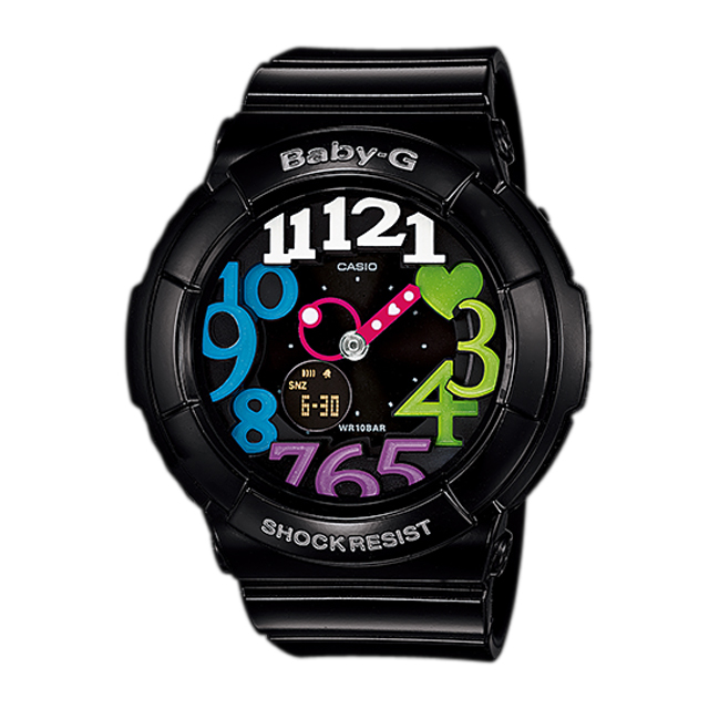 Baby-G ベビージー ベビーG CASIO カシオ レディース 腕時計 Neon Dial Series ネオンダイアルシリーズ BGA-131-1B2JF [国内正規販売店]