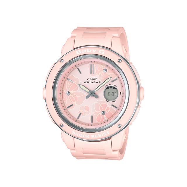 Baby-G ベビージー CASIO カシオ レディース 腕時計 Floral Dial Series BGA-150FL-4AJF [BABY-G/ベビージー/防水/花柄]