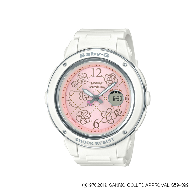 Baby-G ベビージー CASIO カシオ レディース 腕時計 HELLO KITTY Pretty Tough in Pink BGA-150KT-7BJR [BABY-G/HELLOKITTY/ハローキティ/コラボ]