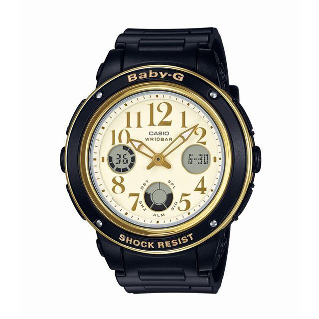 Baby-G ベビージー ベビーG CASIO カシオ レディース 腕時計 BGA-151EF-1BJF [ブラック/アナログ/10気圧防水/耐衝撃/国内正規販売店/Authorized Dealer]