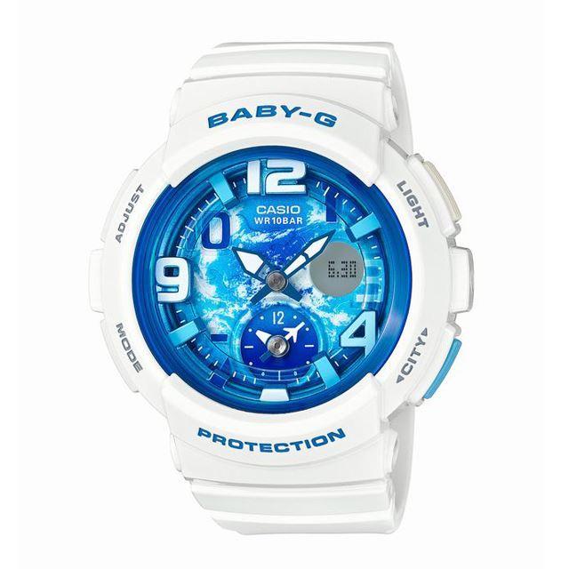 Baby-G ベビージー ベビーG CASIO カシオ レディース 腕時計 Beach Traveler Series ビーチ・トラベラー・シリーズ BGA-190GL-7BJF [ホワイト/白/国内正規販売店/Authorized Dealer]