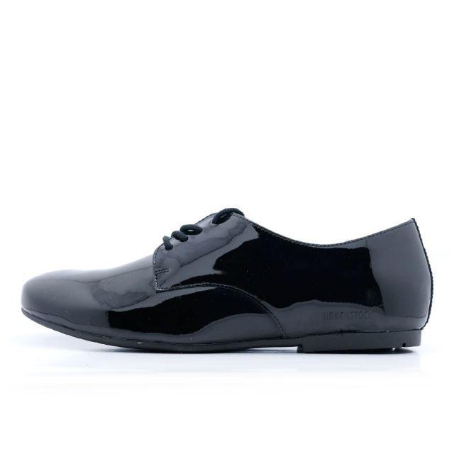ビルケンシュトック ソーンダース BIRKENSTOCK Saunders Black レディース コンフォートシューズ 【革靴 エナメルレザー ナロー幅】  GS1004537