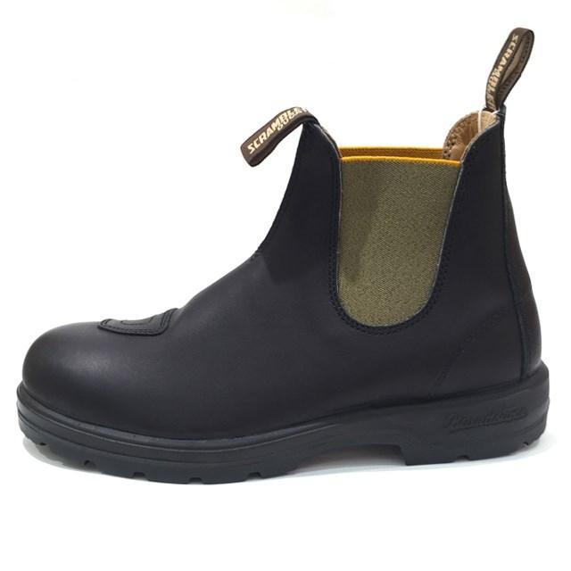 Blundstone ブランドストーン メンズ ブーツ VOLTAN BLACK/OLIVE ボルタンブラック/オリーブ BS800418 [サイドゴア/コラボ/Ducati/ドゥカティ/レザー/ワークブーツ/黒/グリーン/アウトドア/タウンユース/国内正規販売店/Authorized Dealer]