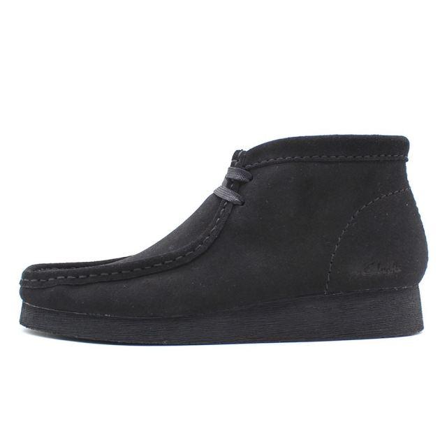 クラークス メンズ ワラビーブーツ2 ブラックスエード Clarks WALLABEE BOOT2 Black Suede メンズ ブーツ 26158302