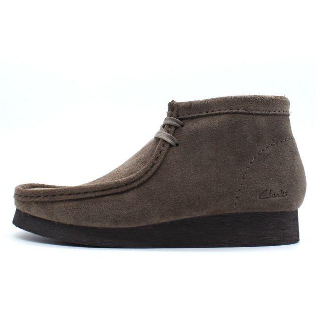 クラークス メンズ ワラビーブーツ2 ストーンスエード Clarks WALLABEE BOOT2 Stone Suede メンズ ブーツ 26161223