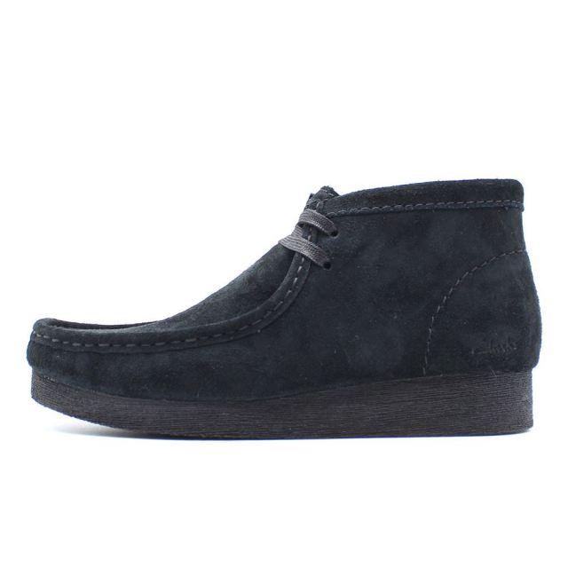 クラークス レディース ワラビーブーツ2 ブラックスエード Clarks WALLABEE BOOT2 Black Suede レディース ブーツ 26161529