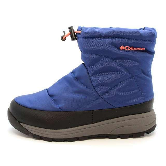コロンビア Columbia ブーツ キッズ キッズ ユース スピンリール ウォータープルーフ 防水 ブルー YY3920-464