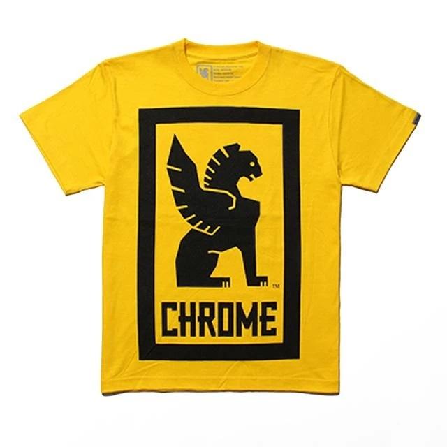 【SALE】 クローム ビッグ ロックアップ ティー CHROME BIG LOCKUP TEE YELLOW メンズ Tシャツ JP044YL