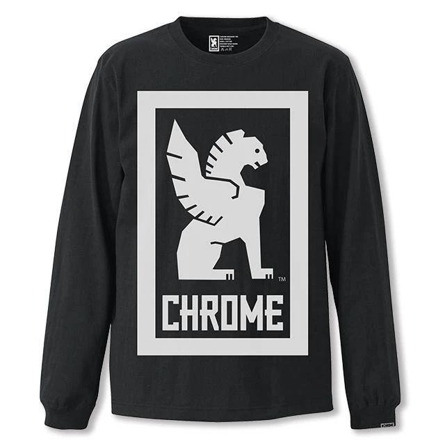 クローム ビッグ ロックアップ ロングスリーブ ティー CHROME BIG LOCKUP L/S TEE BLACK メンズ Tシャツ JP109BK