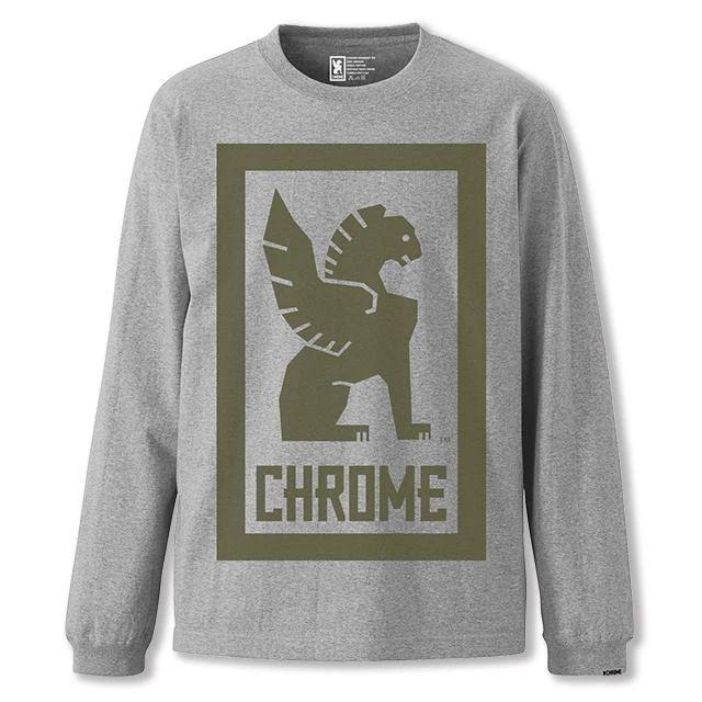 クローム ビッグ ロックアップ ロングスリーブ ティー CHROME BIG LOCKUP L/S TEE MIX GREY メンズ Tシャツ JP109MG