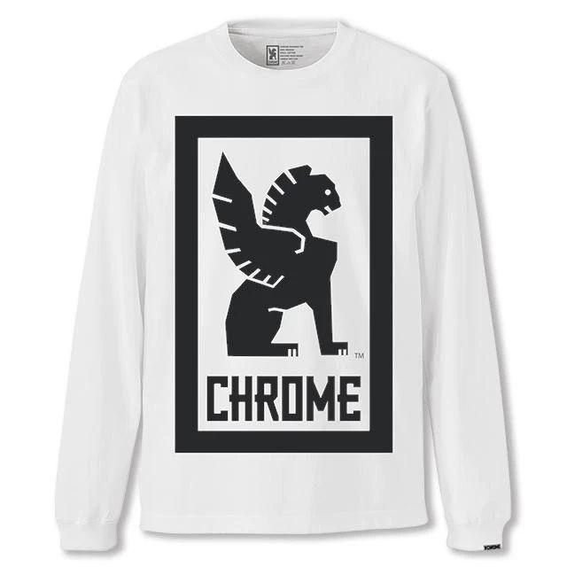 クローム ビッグ ロックアップ ロングスリーブ ティー CHROME BIG LOCKUP L/S TEE WHITE メンズ Tシャツ JP109WT