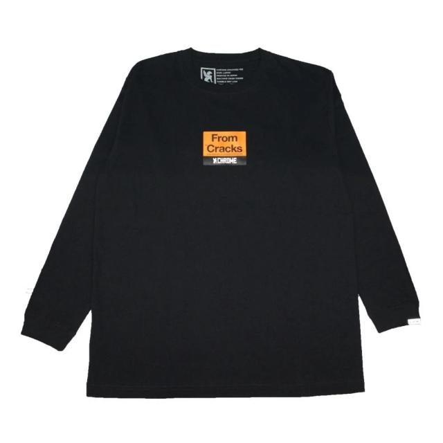 クローム クラックスボックス ロングスリーブ ティー CHROME CRACKS BOX LOGO L/S TEE BLACK メンズ Tシャツ JP163BK