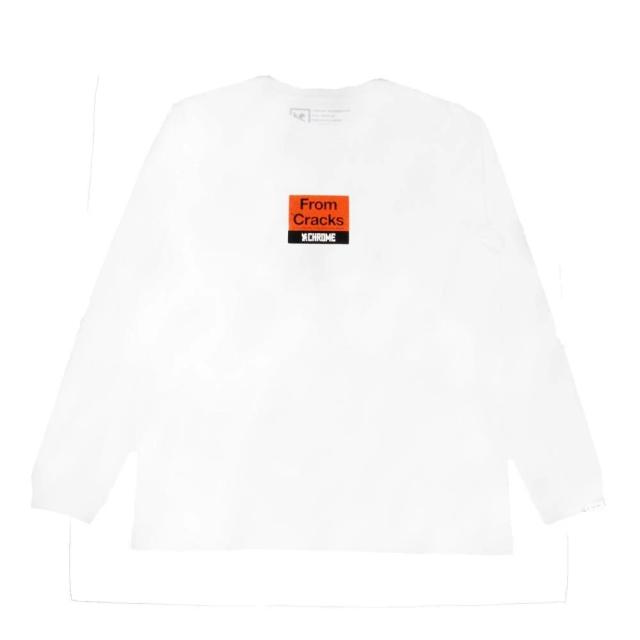 クローム クラックスボックス ロングスリーブ ティー CHROME CRACKS BOX LOGO L/S TEE WHITE メンズ Tシャツ JP163WT