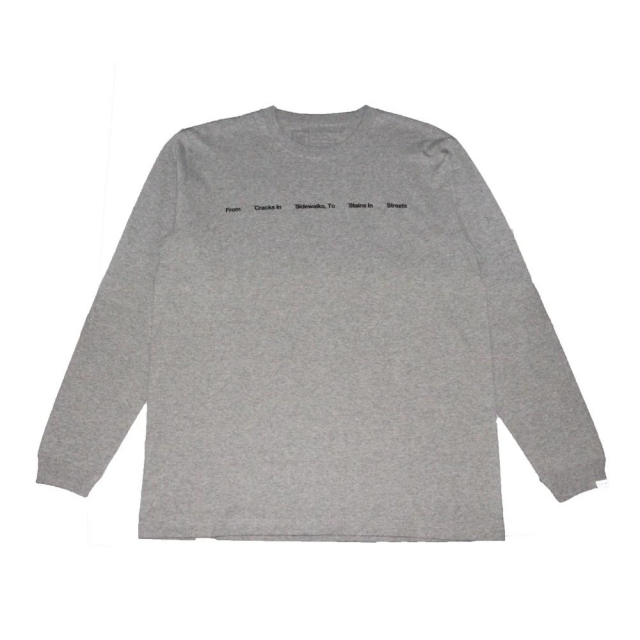 クローム リブ ザ シティー ロングスリーブ ティー CHROME LIVE THE CITY L/S TEE GREY メンズ Tシャツ JP164GY