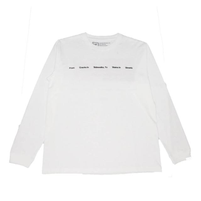 クローム リブ ザ シティー ロングスリーブ ティー CHROME LIVE THE CITY L/S TEE WHITE メンズ Tシャツ JP164WT