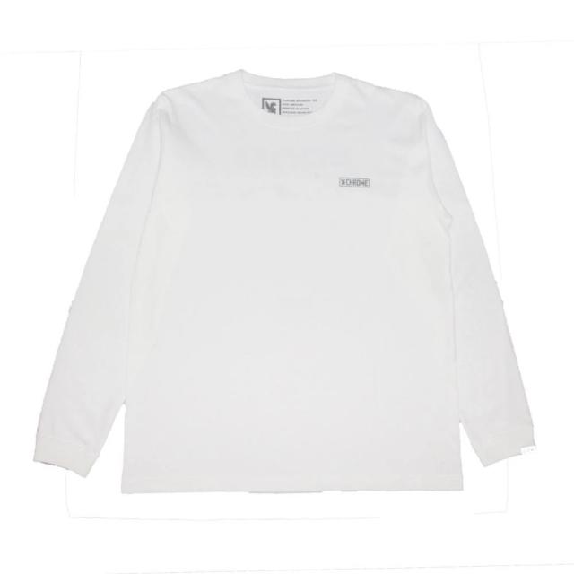 クローム クラックス ボックス バックプリント ロングスリーブ ティー CHROME CRACKS BACK PRINT L/S TEE WHITE メンズ Tシャツ JP165WT
