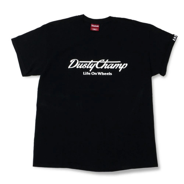 クローム ダスティチャンプ Tシャツ CHROME DUSTYCHAMP TEE BLACK メンズ Tシャツ CREDIT RACING HIDE AND SEEK JP176BK