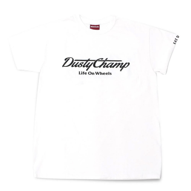 クローム ダスティチャンプ Tシャツ CHROME DUSTYCHAMP TEE WHITE メンズ Tシャツ CREDIT RACING HIDE AND SEEK JP176WT