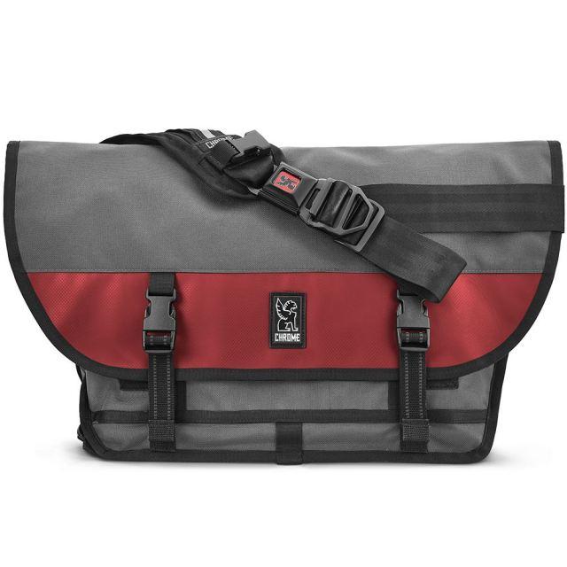 クローム メッセンジャーバッグ シチズン CHROME CITIZEN MESSENGER BAG GREY/RED 防水(WEATHER PROOF) 自転車 ピスト メッセンジャー MESSENGER BAGS BG002GYRD