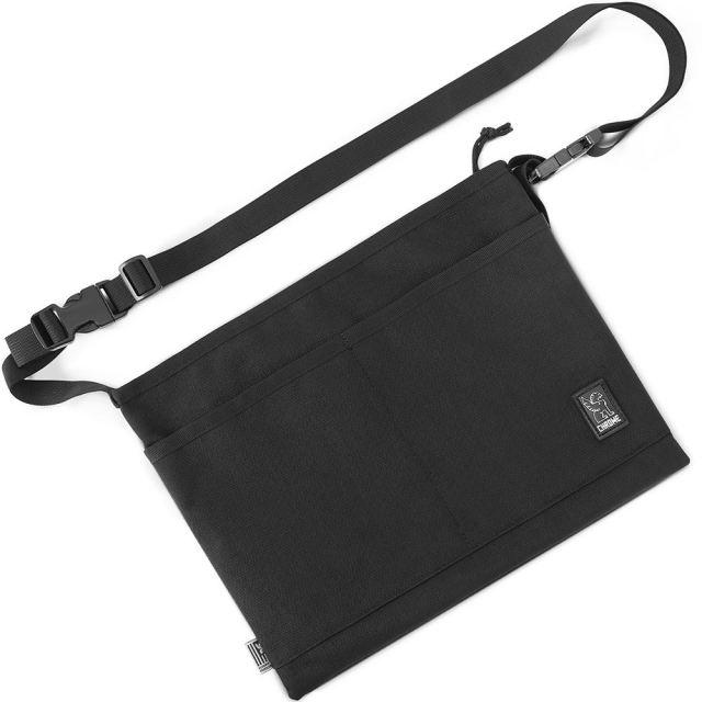 【クローム直営ショップ 】 クローム サコッシュ ミニ ショルダーバッグ MD CHROME MINI SHOULDER BAG MD ALL BLACK SLING BAGS BG286ALLB