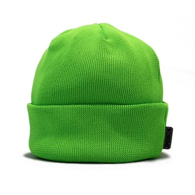 【SALE】 クローム CHROME WATER REPELLENT BEANIE NEONGREEN メンズ JP107NG