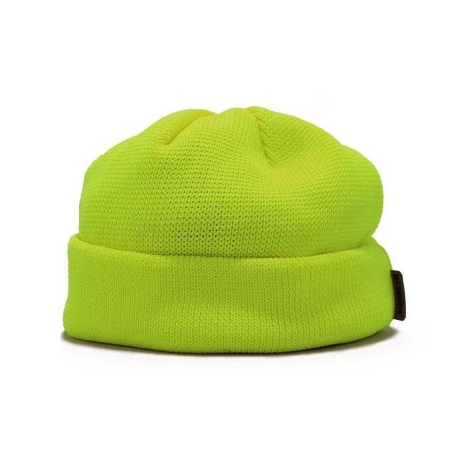 【SALE】クローム ショートビーニー CHROME SHORT BEANIE NEONYELLOW メンズ ニットキャップ 帽子 JP108NY