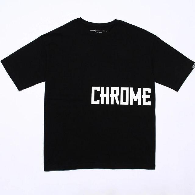 【SALE】 クローム ビッグ シルエット ティー CHROME BIG SILHOUET TEE BLACK メンズ レディース Tシャツ JP150BK