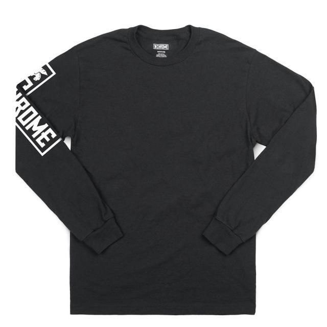 クローム フライング ライオン ロングスリーブ ティー CHROME FLYING LION LONG SLEEVE TEE BLACK メンズ Tシャツ AP473BK