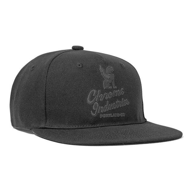 クローム ファイブ パネル キャップ CHROME 5 PANEL CAP BLACK/BLACK メンズ 帽子 JP088BKBK