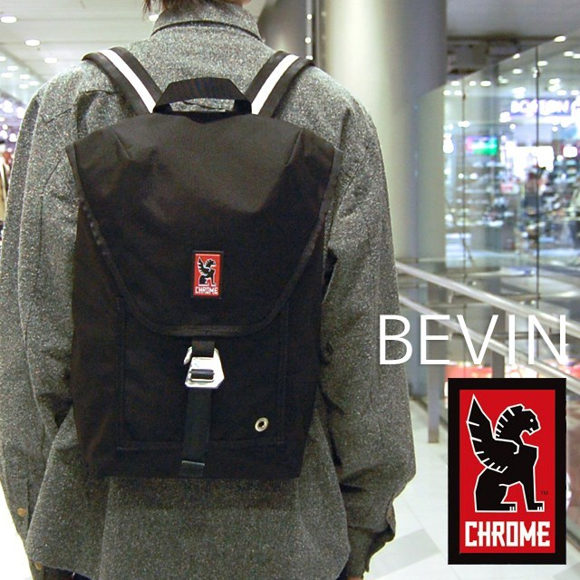 CHROME クローム メンズ バッグ BEVIN ベヴィン Black/Snow BG179BKSNNANA [リュック/デイパック/バックパック/ブラック/国内正規販売店]