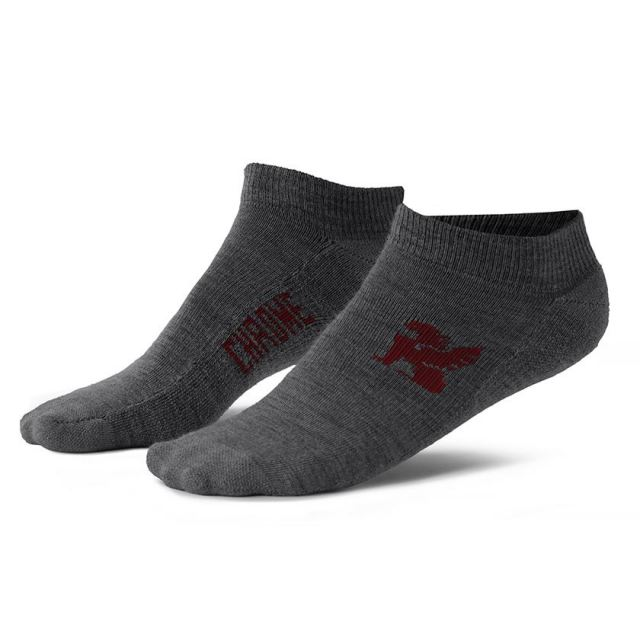 クローム ノーショーソックス CHROME NO SHOW MERINO SOCKS GREY ソックス 天然素材、靴下 AP117GY