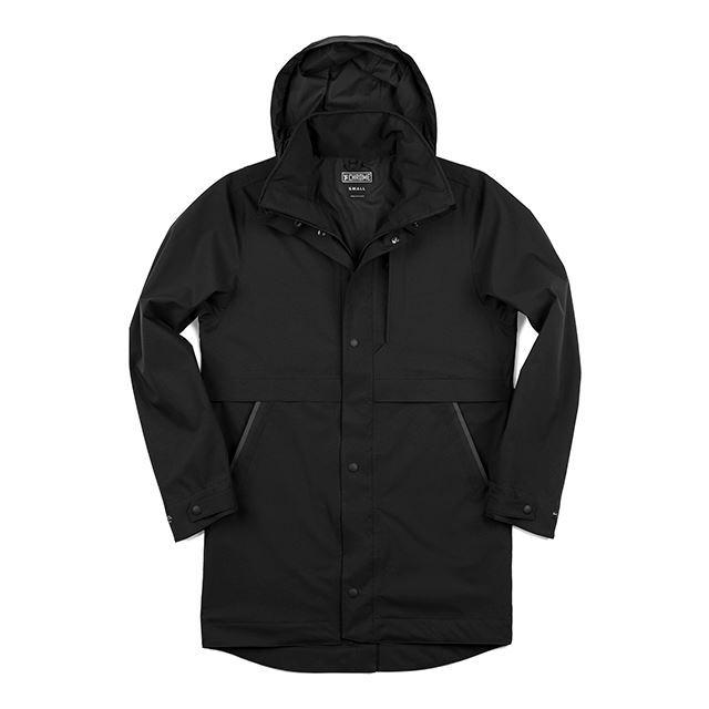 クローム スタントンレイントレンチ CHROME STANTON RAIN TRENCH BLACK パーカー、完全防水、軽量 AP399BK