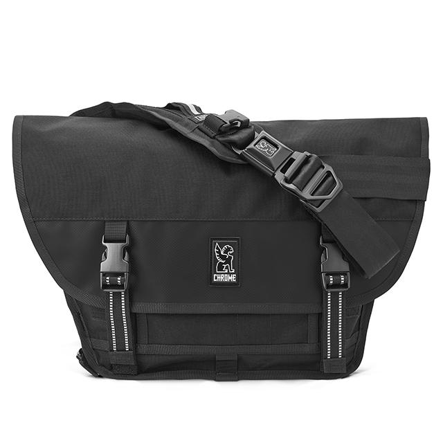 クローム メッセンジャーバッグ ミニメトロ CHROME MINI METRO MESSENGER BAG ALL BLACK 防水(WEATHER PROOF) 自転車 ピスト メッセンジャー MESSENGER BAGS BG001ALLB