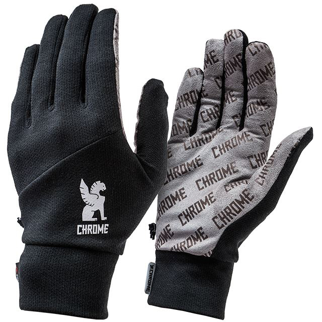 クローム パワードライグローブ CHROME POWER DRY GLOVE BLACK 手袋、速乾 JP035BK