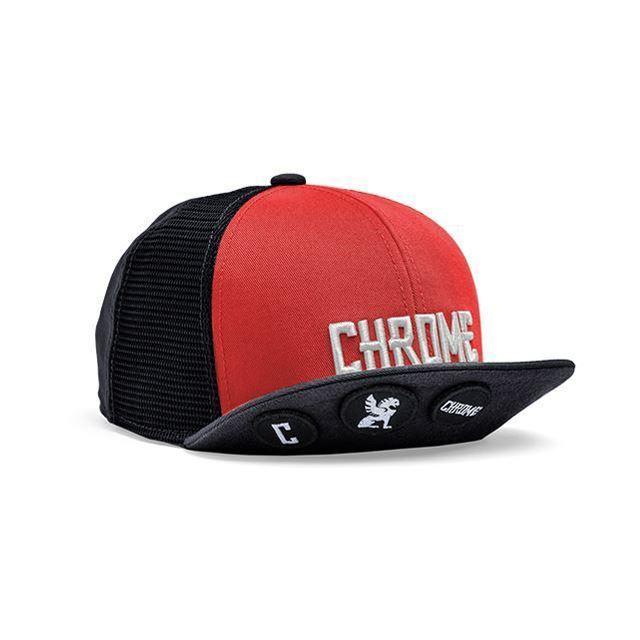 【30%OFF SALE】 クローム ショートバイザーメッシュキャップ CHROME SHORT VISOR MESH CAP RED/BLACK JP037RDBK