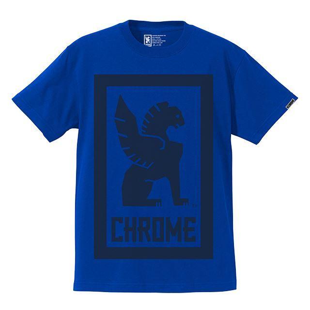 【30%OFF SALE】 クローム ビッグロックアップティー CHROME BIG LOCKUP TEE BLUE JP044BL