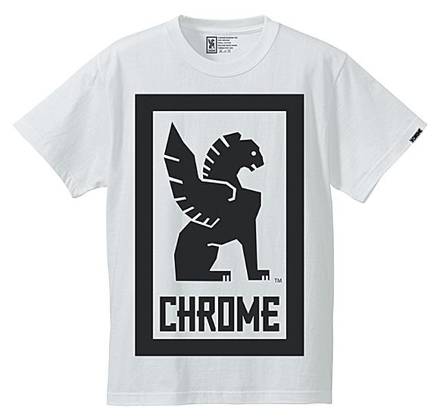 クローム ビッグロックアップティー CHROME BIG LOCKUP TEE WHITE JP044WT
