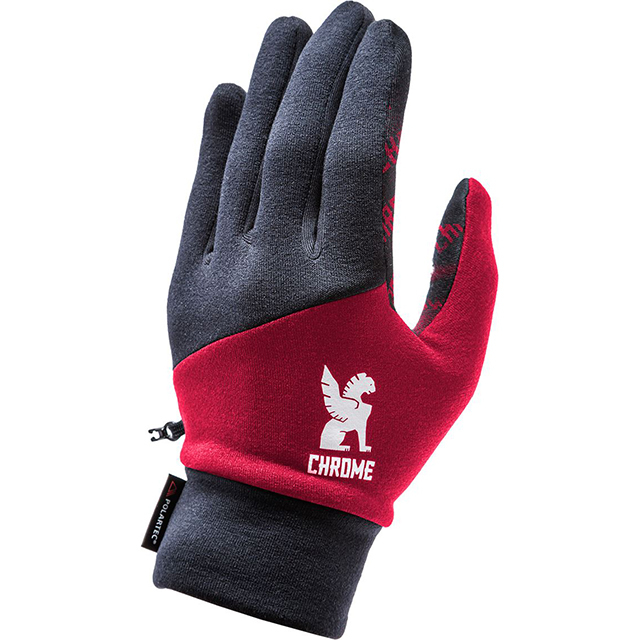 【SALE】 クローム 手袋 パワーストレッチ グローブ CHROME POWER STRECH GLOVE BLACK/RED 自転車 ピスト メッセンジャー タッチパネル対応 CLOTHING ACCESSORIES JP065BKRD