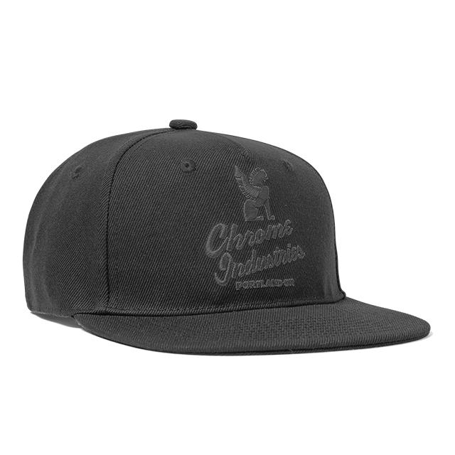 クローム CHROME ファイブ パネル キャップ 帽子 FIVE PANEL CAP BLACK/BLACK JP088BKBK
