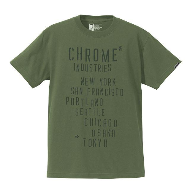 【30%OFF SALE】 クローム ステンシルロックティー CHROME STENCIL ROCK TEE OLIVE JP078OL