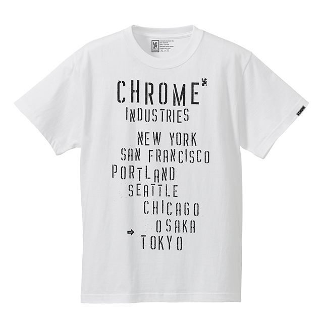 【30%OFF SALE】 クローム ステンシルロックティー CHROME STENCIL ROCK TEE WHITE JP078WT