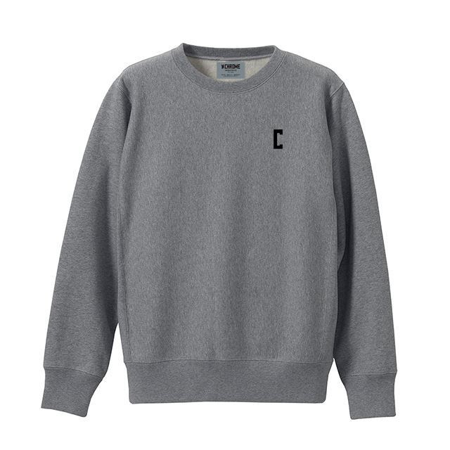【30%OFF SALE】 クローム C-LOGOスウェットクルー CHROME C-LOGO SWEAT CREW H.GREY/BLACK JP083HGYB