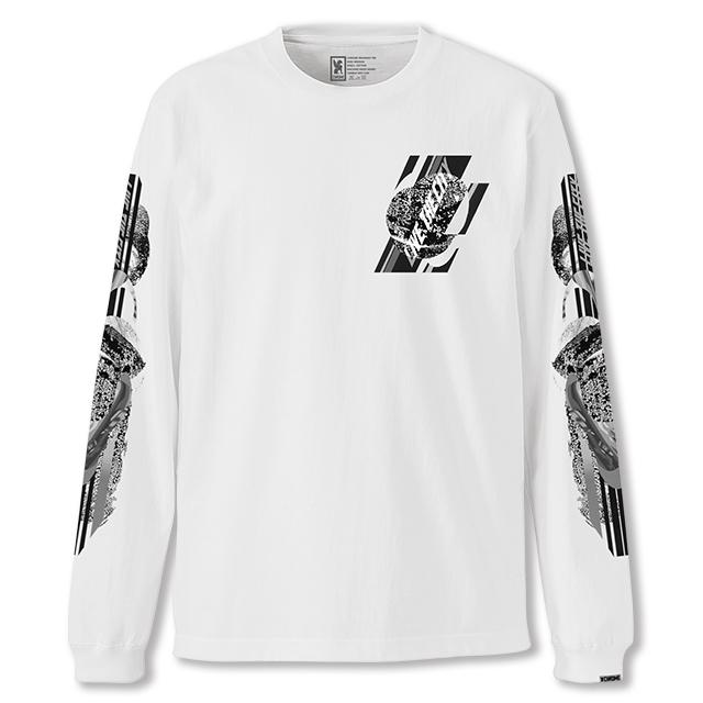 クローム CHROME ホールナイン ロングスリーブ Tシャツ WHOLE 9 L/S TEE WHITE JP113WT