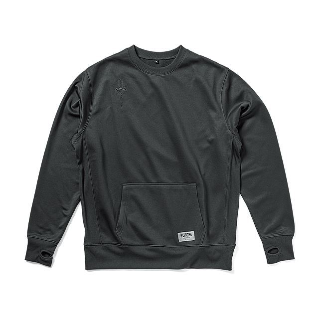 【30%OFF SALE】 クローム テックスウェットクルー CHROME TECH SWEAT CREW BLACK JP121BK